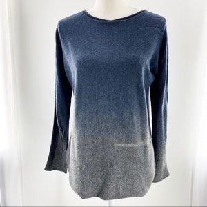 Elie Tahari Long Sleeve Distress Sweater Raw Hem